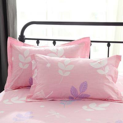 13070最新纯棉全棉枕套 48*47cm一只 叶语浪漫 粉