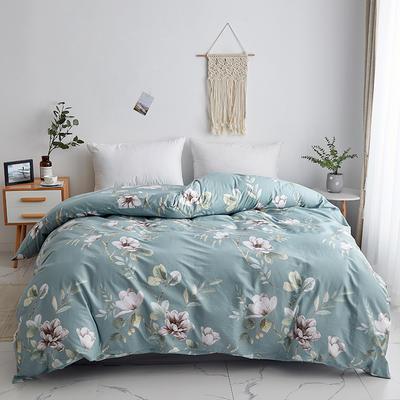 2019新款-13374全棉系列单件被套 120x150cm折叠 花墨奇缘-绿
