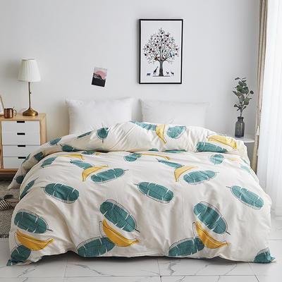 2019新款-13374全棉系列单件被套 120x150cm折叠 香蕉派对