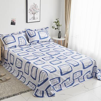 2019新款-13374全棉系列单件床单 180x245cm(直角) 艾蜜-兰