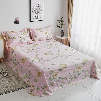 2019新款-13374全棉系列单件床单 180x245cm(直角) 花菲物语-粉