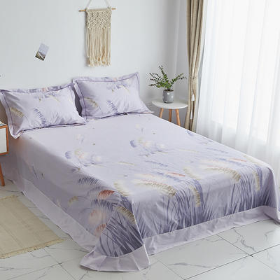 2019新款-13374全棉系列单件床单 180x245cm(直角) 飘絮