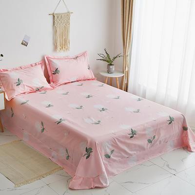 2019新款-13374全棉系列单件床单 180x245cm(直角) 清雅秀丽-粉