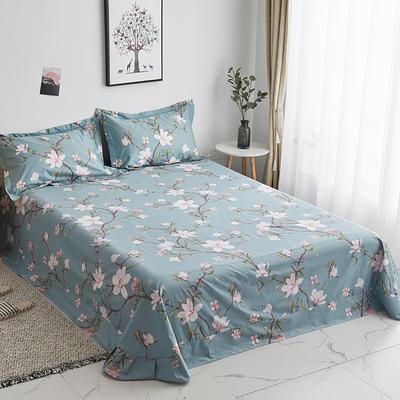 2019新款-13374全棉系列单件床单 180x245cm(直角) 十里花开