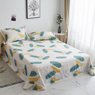 2019新款-13374全棉系列单件床单 180x245cm(直角) 香蕉派对