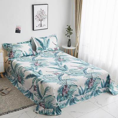 2019新款-13374全棉系列单件床单 180x245cm(直角) 叶语清风