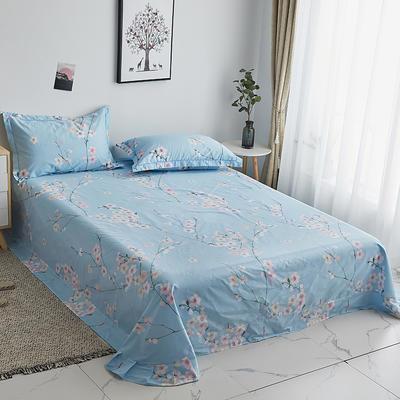 2019新款-13374全棉系列单件床单 180x245cm(直角) 紫罗兰