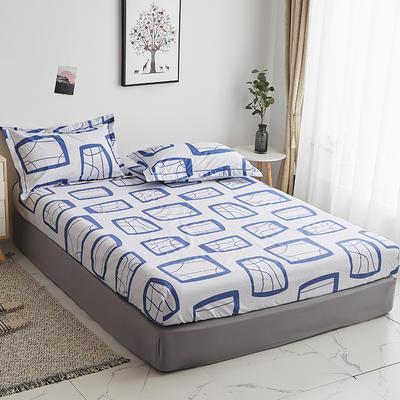 2019新款-13374全棉系列单件床笠 90x200cm+28cm高(定制) 艾蜜-兰