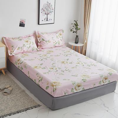2019新款-13374全棉系列单件床笠 90x200cm+28cm高(定制) 花菲物语-粉