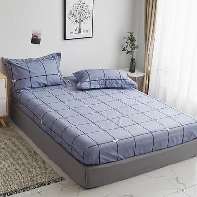 2019新款-13374全棉系列单件床笠 90x200cm+28cm高(定制) 卡尔特-灰