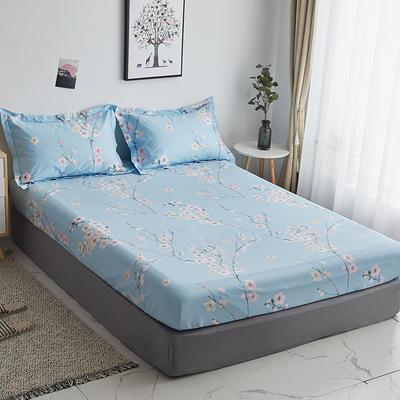 2019新款-13374全棉系列单件床笠 90x200cm+28cm高(定制) 紫罗兰