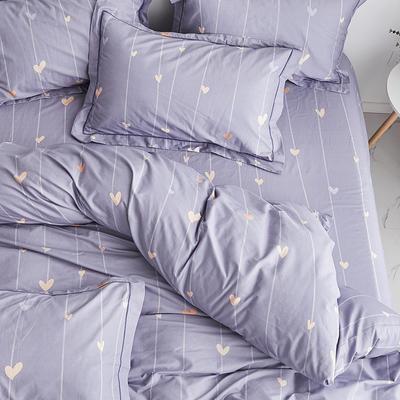 2019新款-13374全棉单件枕套48x74cm一对 48cmX74cm/一对 爱的告白