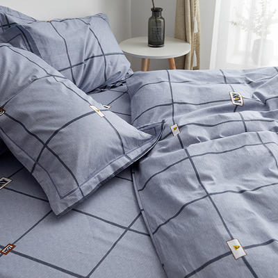 2019新款-13374全棉单件枕套48x74cm一对 48cmX74cm/一对 卡尔特-灰