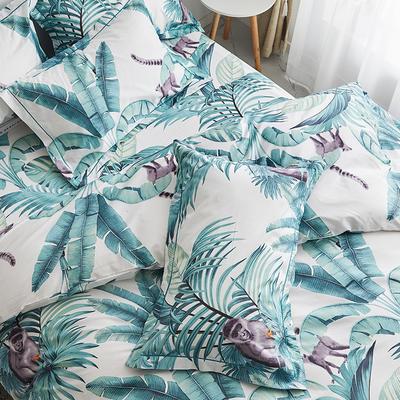 2019新款-13374全棉系列单件枕套 48cmX74cm/一对 叶语清风
