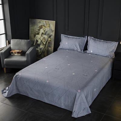 2019新款-冬季32s全棉活性生态磨毛单件床单 180x245cm(直角) 风尚-灰