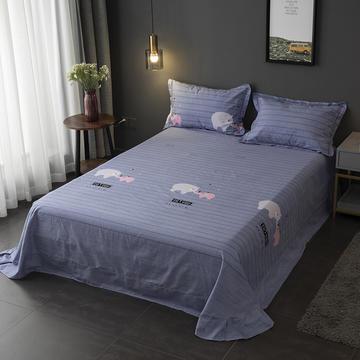 2019新款-冬季32s全棉活性生态磨毛单件床单