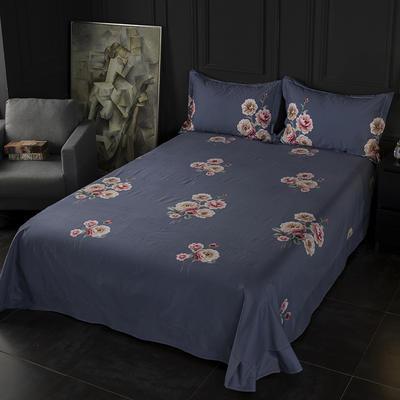 2019新款-冬季32s全棉活性生态磨毛单件床单 180x245cm(直角) 绚丽多姿-蓝