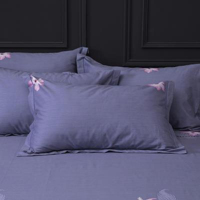 2019新款-冬季32s全棉活性生态磨毛单件枕套 常规48cmX74cm/对 曼妙情思-灰