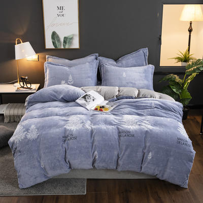 2019新款冬季加厚牛奶绒床单款四件套 1.0m-1.35m床单款三件套 迷梦花香