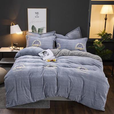 2019新款冬季加厚牛奶绒床单款四件套 1.0m-1.35m床单款三件套 摩登夜曲
