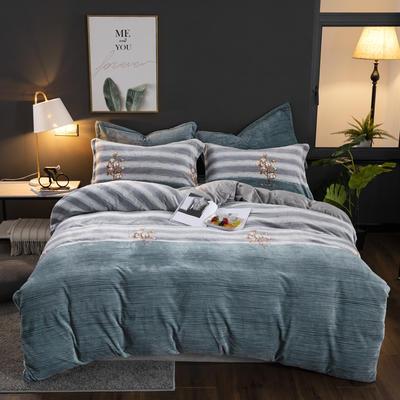 2019新款冬季加厚牛奶绒床单款四件套 1.0m-1.35m床单款三件套 木棉花