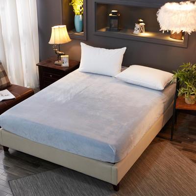 2019新款冬季水晶绒纯色单件床笠 枕套48x74cm/只 灰色