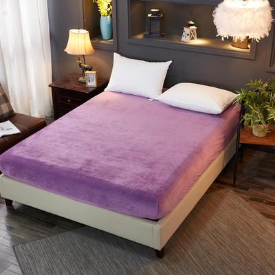 2019新款冬季水晶绒纯色单件床笠 枕套48x74cm/只 紫色