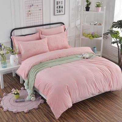 2019新款冬季水晶绒纯色床单款四件套 1.0m-1.35m床单款三件套 玉色