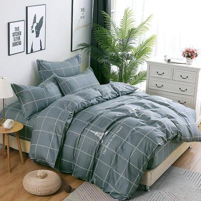 新款13070纯棉床裙四件套 1.0m(3.3英尺)床 埃菲尔-灰