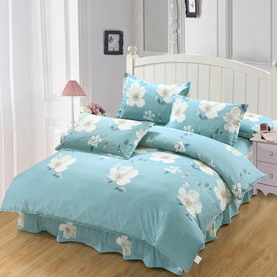 新款13070纯棉床裙四件套 1.0m(3.3英尺)床 镜花水月