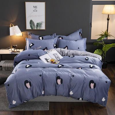 2019新款-水晶绒印花床单款四件套 1.0m-1.35m床单款三件套 豹纹