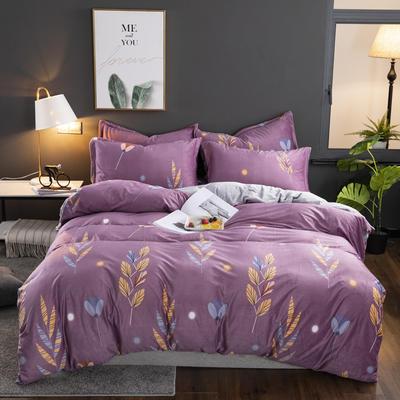 2019新款-水晶绒印花床单款四件套 1.0m-1.35m床单款三件套 麦穗