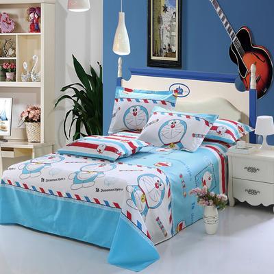 新款13070纯棉全棉单件床单 100cmx220cm 哆啦A梦