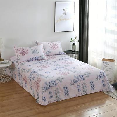 2020新款-13374全棉系列单件床单 180x245cm(直角) 红袖里