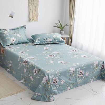 2020新款-13374全棉系列单件床单 180x245cm(直角) 花墨奇缘-绿