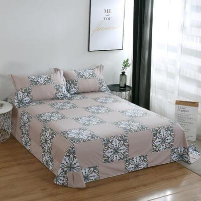 2020新款-13374全棉系列单件床单 180x245cm(直角) 加洛林