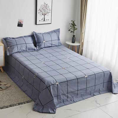 2020新款-13374全棉系列单件床单 180x245cm(直角) 卡尔特-灰