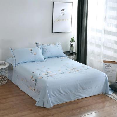 2020新款-13374全棉系列单件床单 180x245cm(直角) 露华浓-兰