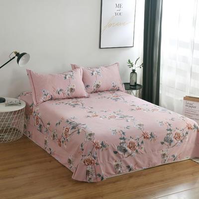 2020新款-13374全棉系列单件床单 180x245cm(直角) 梦迟迟-粉