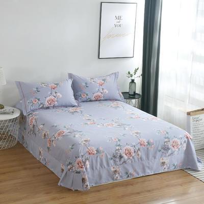 2020新款-13374全棉系列单件床单 180x245cm(直角) 梦迟迟-灰