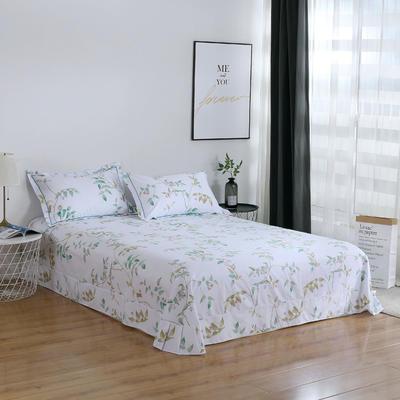 2020新款-13374全棉系列单件床单 180x245cm(直角) 沁园春