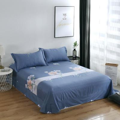 2020新款-13374全棉系列单件床单 180x245cm(直角) 如花盛开