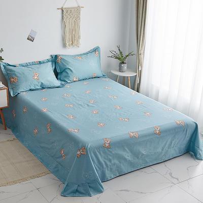 2020新款-13374全棉系列单件床单 180x245cm(直角) 小熊先生