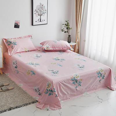 2020新款-13374全棉系列单件床单 180x245cm(直角) 云想衣-粉