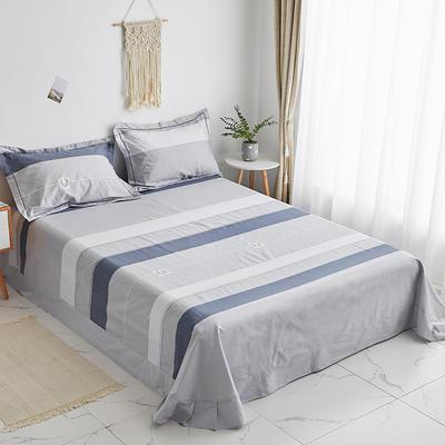 2020新款-13374全棉系列单件床单 180x245cm(直角) 追梦-灰