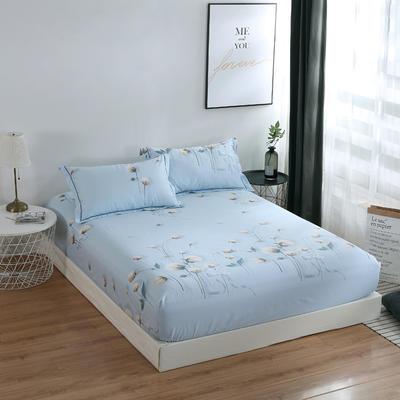 2020新款-13374全棉系列单件床笠 90x200cm+28cm高(定制) 露华浓-兰