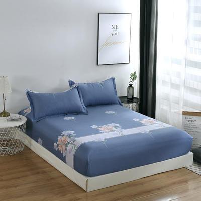 2020新款-13374全棉系列单件床笠 90x200cm+28cm高(定制) 如花盛开