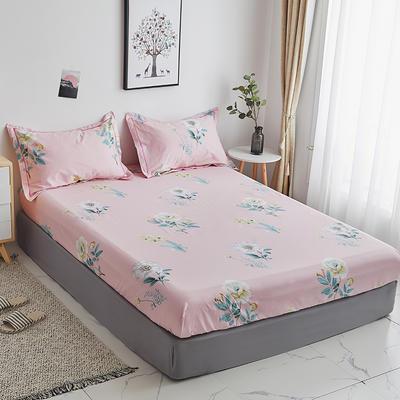 2020新款-13374全棉系列单件床笠 90x200cm+28cm高(定制) 云想衣-粉