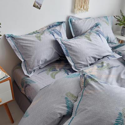 2020新款-13374全棉系列单件枕套 48cmX74cm/对 夏威夷之恋-灰