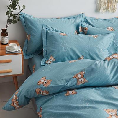 2020新款-13374全棉系列单件枕套 48cmX74cm/对 小熊先生